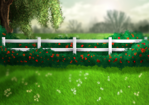 Rose Pasture Background by SweetLittleVampire