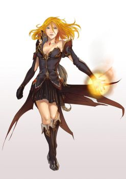 commission - Aion fanart by Kanza