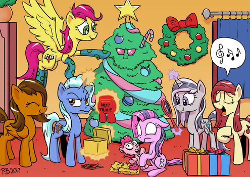 Happy Hearth's Warming by Pony-Berserker