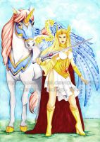 She-ra and SwiftWind by Queen-Uriel