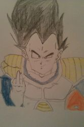 Vegeta giving the finger by chile3456