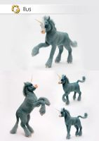 Poseable Art Doll, Unicorn, Ilus by FellKunst