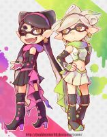 Squid sisters(Unused Costume) by doublejoker00