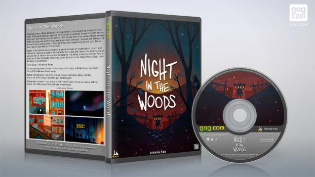 gog cover disc Night in the Wood by XOVYANT