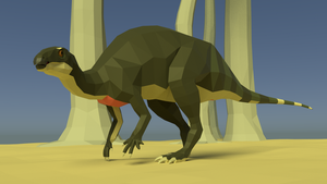 Camptosaurus In Low Poly by kuzim