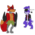 My Ver Of Bonnie And Foxy by 1242u