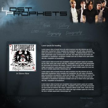 Lost Prophets Fan Website by Nova-Designs