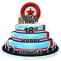 NuryRush's Birthday 18th Cake Render by NuryRush