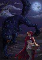 RedRidingHood and BigBadWolf by Infernal-Feline