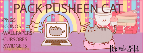 Pack pusheen cat by vale2814