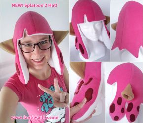 NEW Splatoon2 Inkling Girl Hat - PINKKKK by Bathsua