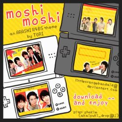 nds theme: moshi moshi by LittleOrangeBandaid