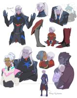 Sketches of  Voltron: Lotor by AtreJane