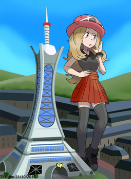 Lumiose lady by Zerinon