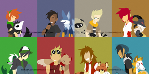 [Digimon re:CON] Playlist Covers by glitchgoat