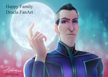 Dracula from Monster Family by HiroUsuda
