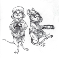 Disney Inktober #2 - Rodents by KelpGull
