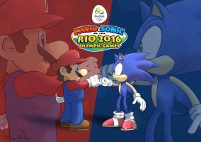 Mario and Sonic @ the Rio 2016 Olympic Games by MarioKero345