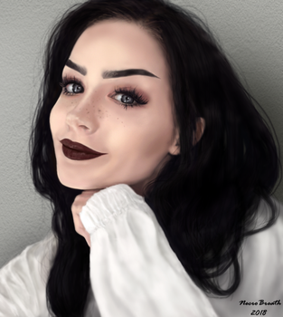 Portrait of a girl by NecroBreath