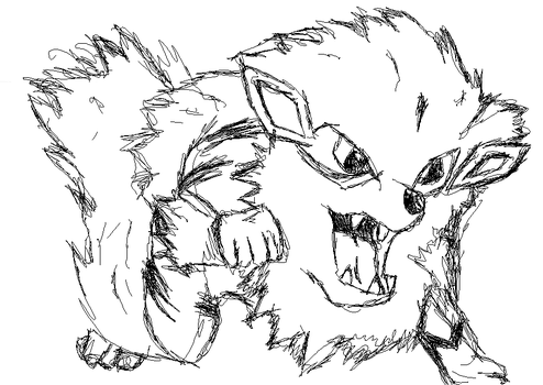 10 minute  Arcanine by MrBubbleFish