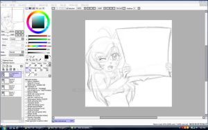 Audi: CherBear with Blank Sign pt1 -Preview- by mscherbear
