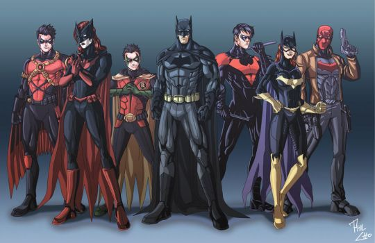 Bat Family Reboot by phil-cho
