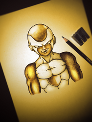 The Mighty Golden Frieza by S1RBRAD3TH