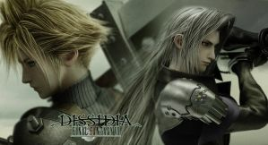 Cloud and Sephiroth by kinly
