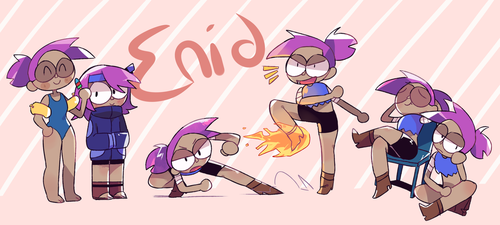Enid - OK K.O. Let's be Heroes - Fan art by Fainna