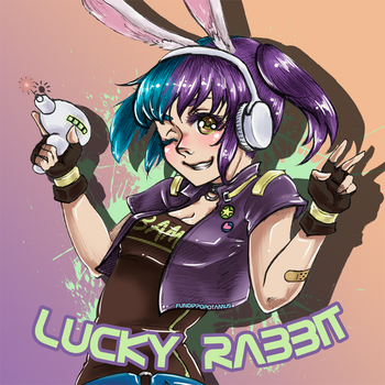 LuckyRabbit by Fundippopotamus