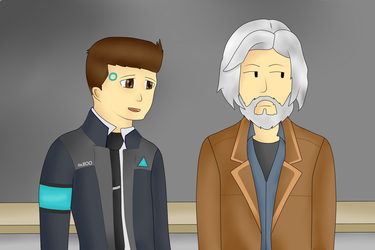 Detroit: become human. Connor and Hank by MuskyCat90