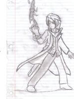 [Sketch] Exorcist (Lost Saga) (Lined) by LessHoly