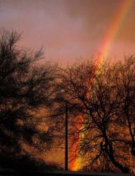 Sunset and Rainbow by theFabulousUnknown