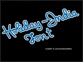 Font O5 Holiday India by PerfectSensati0nn