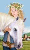 Girl and horse by arventur