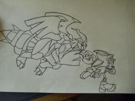Shadow vs Zekrom by shadowhatesomochao