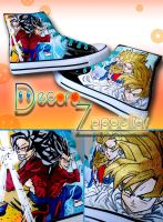 Dragon ball shoes by Raw-J