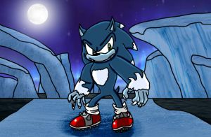 Sonic Drawing: Sonic (Sonic Unleashed Pose 1) by AceTimeRad