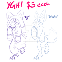 YGH: Kigu - Blushu - $5 each, OPEN! by MonsterMeds