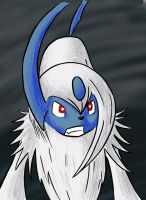Absol - colour by Tekameito