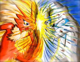 Blaziken vs Beartic