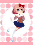 .:: Sayori ::. + Speedpaint by OpalesquePrincess
