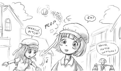 Taisho Baseball Girls by Fadri