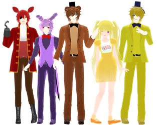 [MMD] FNAF 1 DOWNLOAD by MijumaruNr1