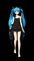 Project Diva Future Tone : Deep Sea Girl Miku WIP by WM86