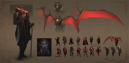 Dracula Character Design - Revision by EsbenLash