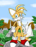 Tails: Exploring Ruins by DragonQuestHero