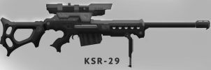 sniper rifle KSR-29 by St-Pete