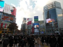 A Cold Day in Shibuya by rlkitterman
