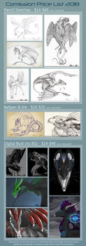 Commission List 2018 (Open) by Sezaii